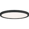 This item: Outskirts Earth Black 15-Inch LED Flush Mount with White Acrylic Shade