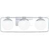 This item: Padgett Polished Chrome Three-Light Bath Vanity