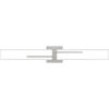 This item: Allison Brushed Nickel 29-Inch Integrated LED ADA One-Light Bath Vanity with Etched White Painted Glass