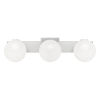 This item: Clements Brushed Nickel Three-Light Bath Vanity