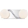 This item: Essence Polished Chrome Two-Light LED Bath Vanity