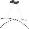 This item: Platinum Collection Fanfare Earth Black LED Linear Pendant