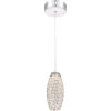 This item: Platinum Collection Infinity Polished Chrome 4-Inch LED Mini Pendant