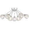 This item: Spellbound Polished Chrome Nine-Light Semi-Flush Mount with Crystal Glass