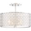 This item: Platinum Collection Verity Polished Chrome Three-Light Semi-Flush Mount