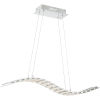This item: Platinum Collection Wave Polished Chrome LED Linear Pendant