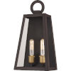 This item: Poplar Point Old Bronze Two-Light Outdoor Wall Mount