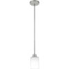 This item: Pruitt Brushed Nickel One-Light Mini Pendant with Opal Glass
