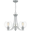 This item: Pruitt Brushed Nickel Three-Light Chandelier with Seedy Glass