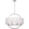This item: Portland Brushed Nickel Eight Light Pendant