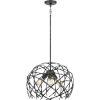 This item: Pantheon Old Black Three-Light Pendant