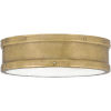 This item: Ahoy Weathered Brass Integrated LED One-Light Flush Mount