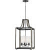 This item: Rowling Weathered White Maple Four-Light Pendant with Transparent Seedy Glass