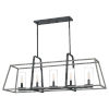 This item: Linear Distressed Iron Five-Light Chandelier
