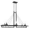 This item: Linear Matte Black Six-Light Chandelier