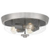 This item: Radius Brushed Nickel 15-Inch Three-Light Flush Mount with Clear Seeded Glass