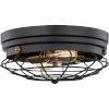 This item: Classic Matte Black Two-Light Flush Mount