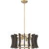 This item: Cordelia Aged Brass Four-Light Pendant