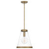 This item: Bristol Weathered Brass One-Light Pendant