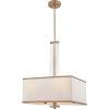 This item: Callum Weathered Brass Four-Light Pendant