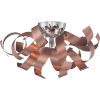 This item: Ribbons Bronze with Gold Four-Light Close to Ceiling
