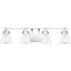 This item: Sabine Polished Chrome Four-Light Bath Vanity with Transparent Glass