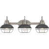 This item: Sandpiper Antique Polished Nickel Three-Light Bath Vanity with Metal Cage