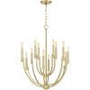 This item: Strand Satin Brass 12-Light Chandelier