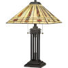 This item: Stevie Western Bronze Two-Light Table Lamp with Tiffany Glass