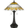 This item: Maddow Vintage Bronze Two-Light Table Lamp with Tiffany Glass