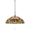 This item: Violets Vintage Bronze 20-Inch Three-Light Pendant