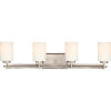 This item: Taylor Antique Nickel Four-Light Bath Light