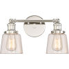 This item: Union Polished Nickel 15-Inch Two-Light Bath Light