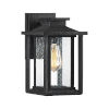 This item: Wakefield Earth Black 11-Inch One-Light Outdoor Wall Sconce