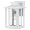 This item: Wakefield White Lustre Seven-Inch One-Light Outdoor Wall Mount