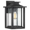 This item: Wakefield Earth Black 14-Inch One-Light Outdoor Wall Sconce
