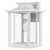 This item: Wakefield White Lustre Nine-Inch One-Light Outdoor Wall Mount