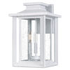 This item: Wakefield White Lustre Three-Light Outdoor Wall Mount