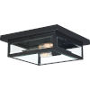 This item: Westover Earth Black Two-Light Outdoor Flush Mount