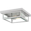 This item: Westover Stainless Steel 12-Inch Two-Light Outdoor Flush Mount with Glass