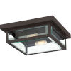 This item: Westover Western Bronze 12-Inch Two-Light Outdoor Flush Mount with Glass