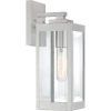 This item: Westover Stainless Steel 14-Inch One-Light Outdoor Lantern with Clear Beveled Glass