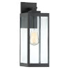 This item: Westover Earth Black 17-Inch One-Light Outdoor Wall Sconce
