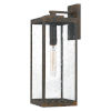 This item: Westover Industrial Bronze Seven-Inch One-Light Outdoor Wall Mount