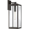 This item: Westover Western Bronze 20-Inch One-Light Outdoor Lantern with Clear Beveled Glass