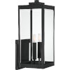 This item: Westover Earth Black Two-Light Outdoor Wall Mount