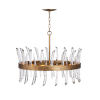 This item: Revel Burnished Gold Eight-Light Chandelier