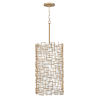 This item: Farrah Burnished Gold Nine-Light Pendant with White Linen Shade