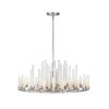 This item: Trinity Polished Nickel LED Chandelier with Frosted Glass
