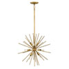 This item: Tryst Burnished Gold Eight-Light Stem Hung Pendant
